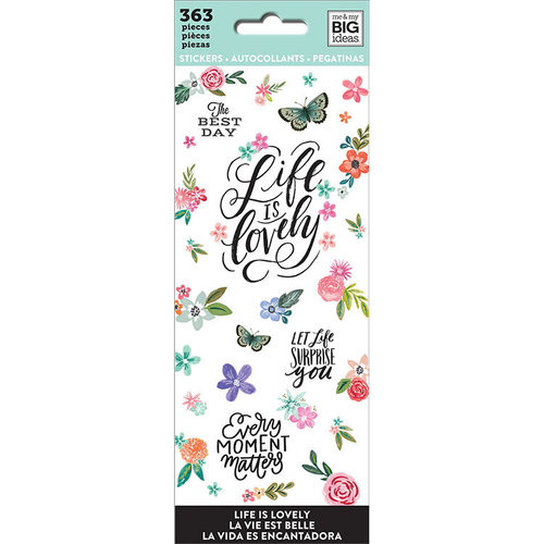 Me and My Big Ideas - Create 365 Collection - Planner - Icon Stickers - Life is Lovely with Foil Accents