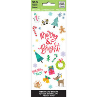 Me and My Big Ideas - Christmas - MAMBI Sticks - Cardstock Stickers - Merry and Bright
