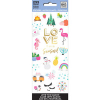 Me and My Big Ideas - MAMBI Sticks - Cardstock Stickers - Love This Season with Foil Accents