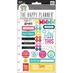 Me and My Big Ideas - Create 365 Collection - Planner - Embellished Stickers with Foil Accents - Happy - Brights