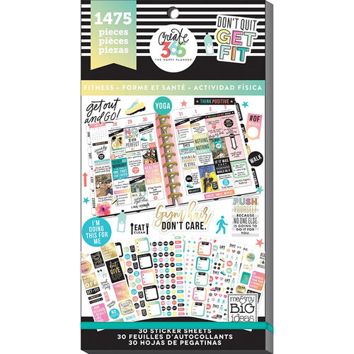 Me and My Big Ideas - Create 365 Collection - Planner - Stickers - Value Pack - Work it Out with Foil Accents