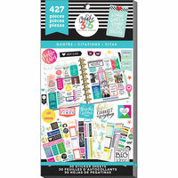 Me and My Big Ideas - Create 365 Collection - Planner - Stickers - Value Pack - Quotes with Foil Accents