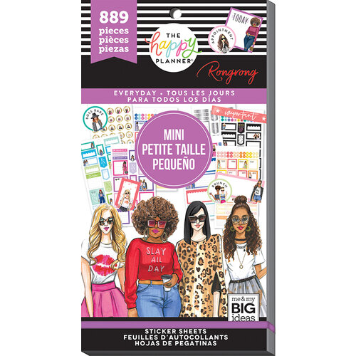Me and My Big Ideas - Happy Planner Collection - Planner - Mini - Stickers - Functional with Foil Accents