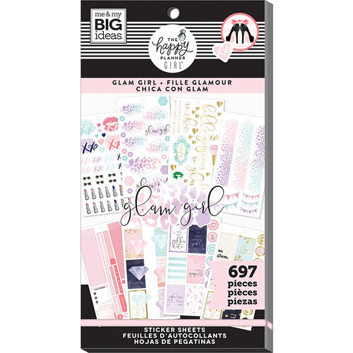 Me and My Big Ideas - Glam Girl Collection - Planner - Stickers - Value Pack with Foil Accents