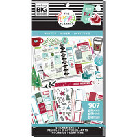 Me and My Big Ideas - Happy Planner Collection - Planner - Stickers - Value Pack - Winter with Foil Accents