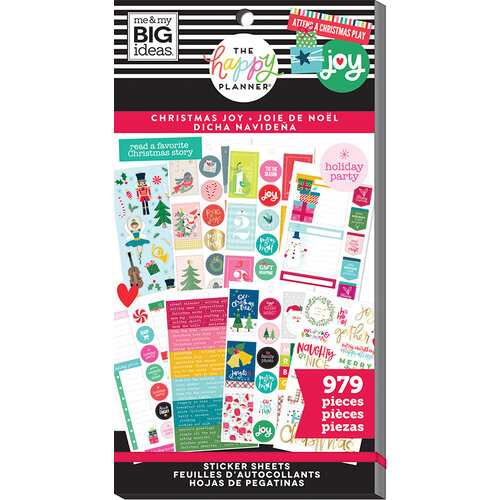 Me and My Big Ideas - Happy Planner Collection - Planner - Stickers - Value Pack - Christmas with Foil Accents