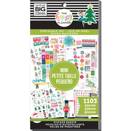 Me and My Big Ideas - Happy Planner Collection - Planner - Mini - Stickers - Value Pack - Christmas Joy with Foil Accents