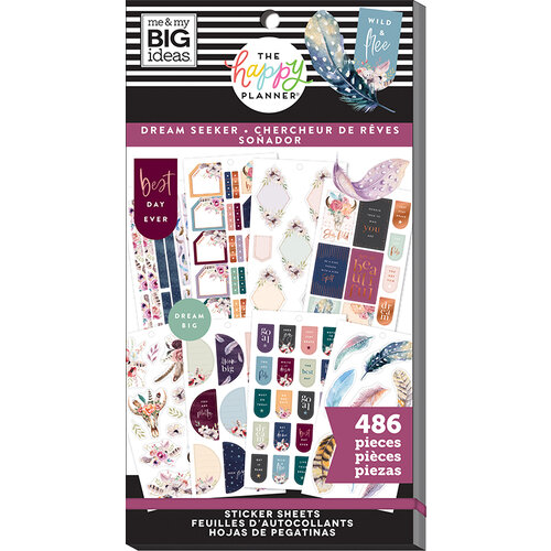 Me and My Big Ideas - Happy Planner Collection - Planner - Stickers - Value Pack - Dream Seeker with Foil Accents