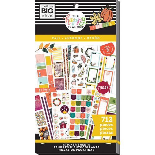 Me and My Big Ideas - Happy Planner Collection - Planner - Stickers - Value Pack - Fall with Foil Accents