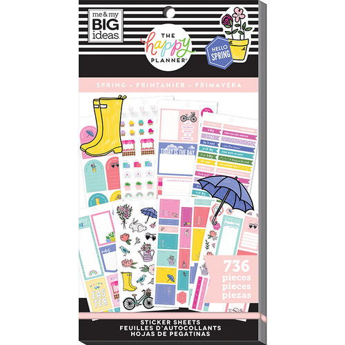 Me and My Big Ideas - Happy Planner Collection - Planner - Stickers - Value Pack - Spring with Foil Accents