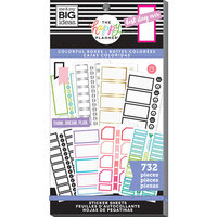 Me and My Big Ideas - Happy Planner Collection - Planner - Stickers - Value Pack - Monthly Colorful Boxes with Foil Accents