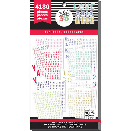 Me and My Big Ideas - Create 365 Collection - Planner - Stickers - Value Pack - Alphabet with Foil Accents