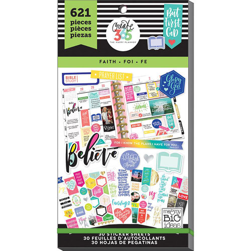 Me and My Big Ideas - Create 365 Collection - Planner - Stickers - Value Pack - Classic Faith with Foil Accents