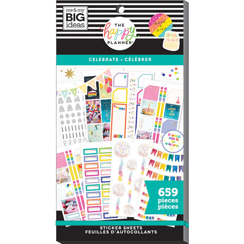 Me and My Big Ideas - Happy Planner Collection - Planner - Stickers - Value Pack - Celebrate