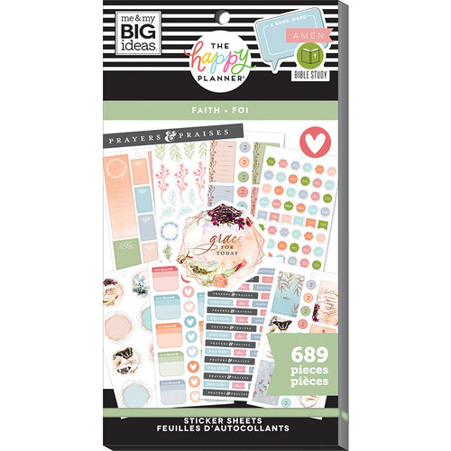 Me and My Big Ideas - Happy Planner Collection - Planner - Stickers - Value Pack - Faith Be Still