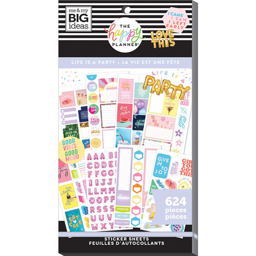 Me and My Big Ideas - Happy Planner Collection - Planner - Stickers - Value Pack - Life is a Party
