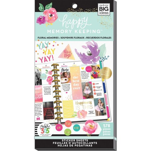 Me and My Big Ideas - Create 365 Collection - Planner - Stickers - Value Pack - Floral