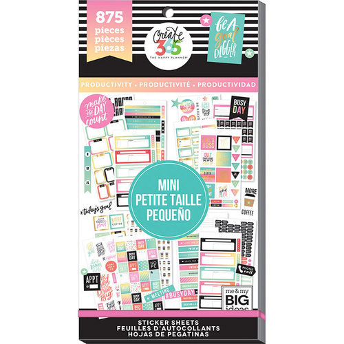Me and My Big Ideas - Create 365 Collection - Planner - Stickers - Value Pack - Mini Productivity with Foil Accents