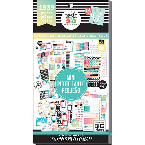 Me and My Big Ideas - Create 365 Collection - Planner - Stickers - Value Pack - Mini Fitness