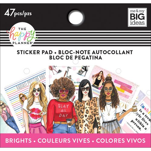 Me and My Big Ideas - Happy Planner Collection - Planner - Tiny Sticker Pad Brights with Foil Accents