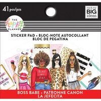 Me and My Big Ideas - Happy Planner Collection - Planner - Tiny Sticker Pad Boss Babe with Foil Accents