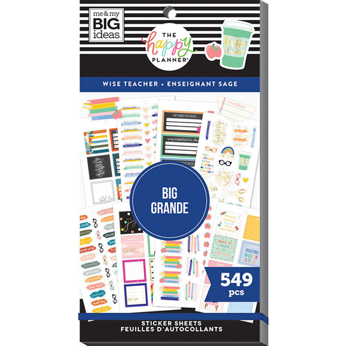 Me and My Big Ideas - Happy Planner Collection - Planner - Stickers - Value Pack - Wise Teacher