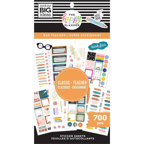 Me and My Big Ideas - Happy Planner Collection - Planner - Stickers - Value Pack - Rad Teacher