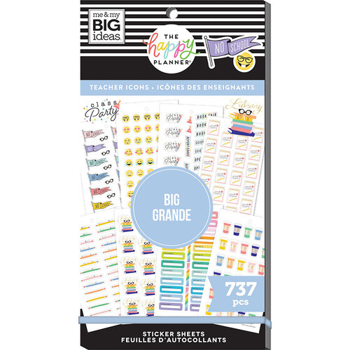 Me and My Big Ideas - Happy Planner Collection - Planner - Stickers - Value Pack - Teacher Icons