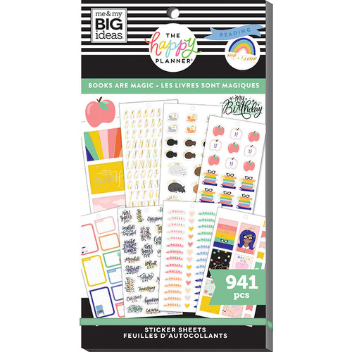 Me and My Big Ideas - Happy Planner Collection - Planner - Stickers - Value Pack - Books Are Magic