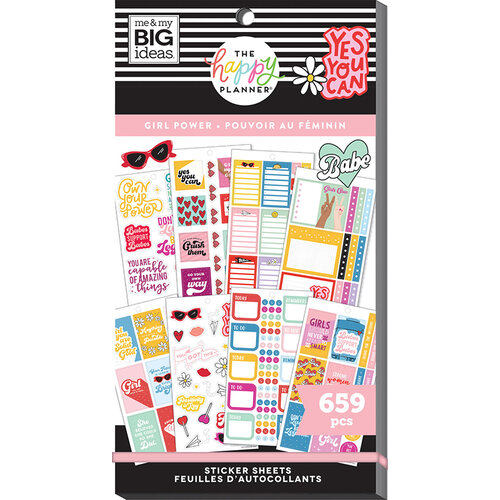 Me and My Big Ideas - Happy Planner Collection - Planner - Stickers - Value Pack - Girl Power