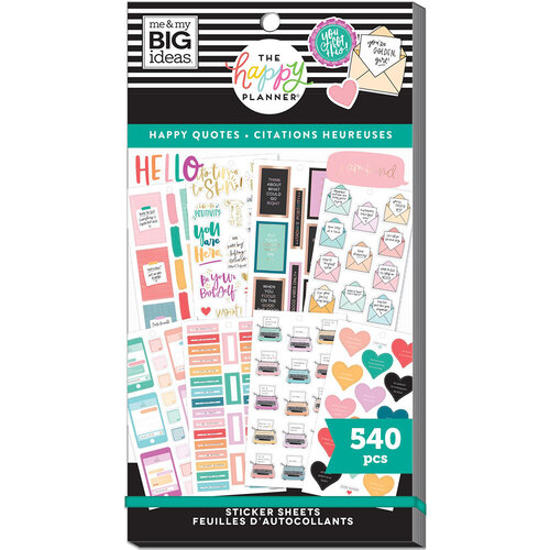 Me and My Big Ideas - Happy Planner Collection - Planner - Stickers - Value Pack - Happy Quotes