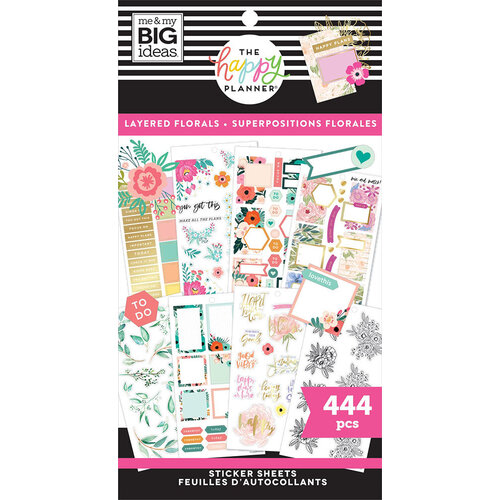 Me and My Big Ideas - Happy Planner Collection - Planner - Stickers - Value Pack - Layered Florals