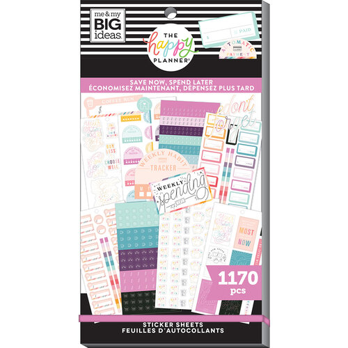 Me And My Big Ideas - Happy Planner Collection - Planner - Stickers - Save Now Spend Later
