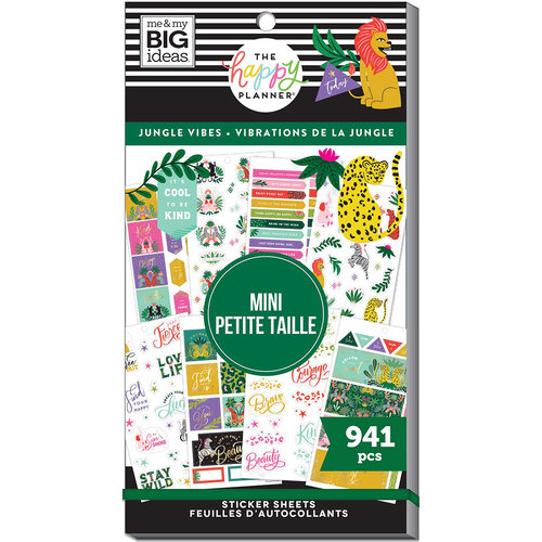 Me And My Big Ideas - Happy Planner Collection - Planner - Stickers - Mini - Jungle Vibes