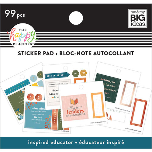Me and My Big Ideas - Happy Planner Collection - Planner - Tiny Sticker Pad - Inspired Educator