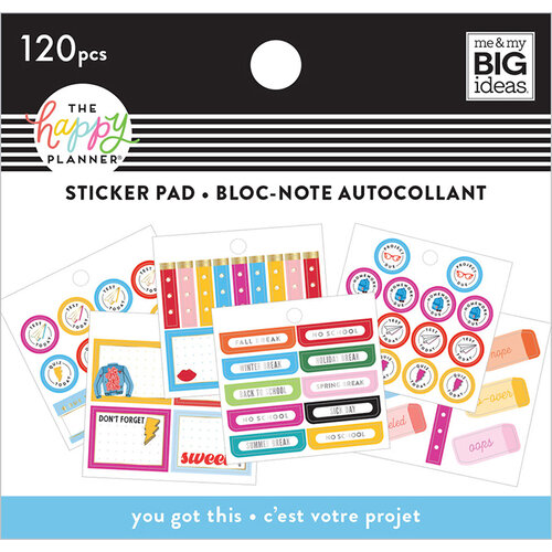 Me and My Big Ideas - Happy Planner Collection - Planner - Tiny Sticker Pad - You Got This Student