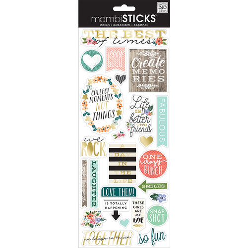 Me and My Big Ideas - MAMBI Sticks - Clear Stickers - The Best of Times