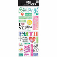 Me and My Big Ideas - MAMBI Sticks - Clear Stickers - Count Your Blessings