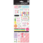 Me and My Big Ideas - MAMBI Sticks - Cardstock Stickers - Life is Better with Friends with Foil Accents