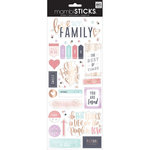 Me and My Big Ideas - MAMBI Sticks - Cardstock Stickers - Family is Everything with Foil Accents