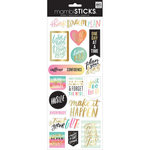 Me and My Big Ideas - MAMBI Sticks - Cardstock Stickers - Think Dream Plan with Foil Accents