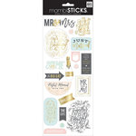 Me and My Big Ideas - MAMBI Sticks - Cardstock Stickers - Mr and Mrs with Foil Accents