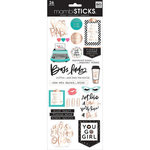 Me and My Big Ideas - MAMBI Sticks - Cardstock Stickers - Boss Babe with Foil Accents