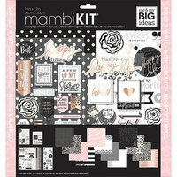 Me and My Big Ideas - MAMBI Kit - 12 x 12 Page Kit - Black and White with Rose Gold Foil Accents