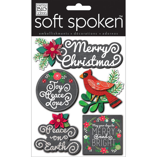 Me and My Big Ideas - Soft Spoken - 3 Dimensional Stickers - Ellen Merry Christmas