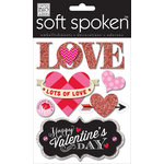 Me and My Big Ideas - Soft Spoken - 3 Dimensional Stickers - Lots of Love