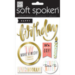 Me and My Big Ideas - Soft Spoken - 3 Dimensional Stickers - Hooray Birthday