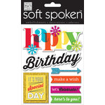 Me and My Big Ideas - Soft Spoken - 3 Dimensional Stickers - Happy Birthday Bright