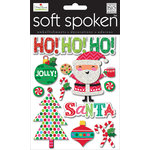 Me and My Big Ideas - Soft Spoken - Christmas - 3 Dimensional Stickers - Jolly Santa