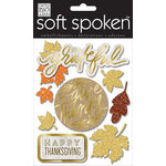Me and My Big Ideas - Soft Spoken - 3 Dimensional Stickers - Fall Grateful